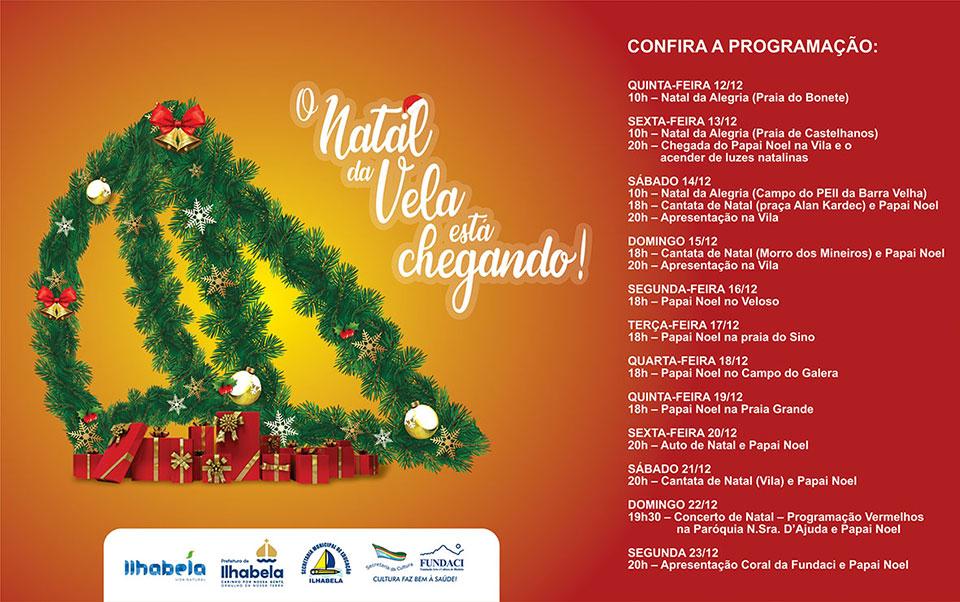Programação Natal em Ilhabela 2019