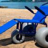 Ilhabela tem cadeiras anfíbias para banhistas com mobilidade reduzida