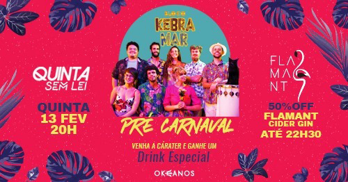 Pré-Carnaval no Okeanos com Bloco Kebramar Ilhabela