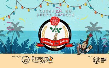 Carnaval com Samba da Rosa de frente para o mar