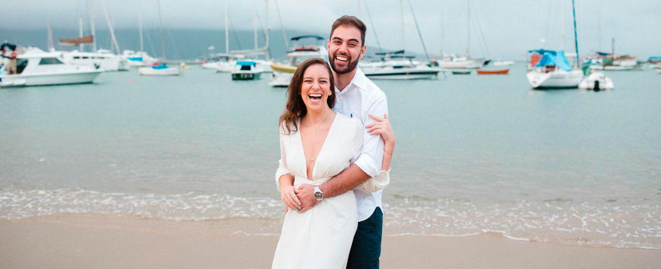 Thamires e Rafael - Ensaio pré-casamento em Ilhabela - Noivos tiveram que adiar casamento pela pandemia de coronavírus