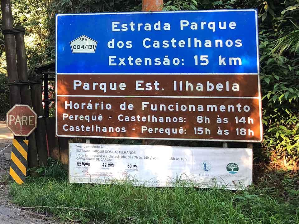 Entrada do Parque Estadual de Ilhabela - Praia de Castelhanos - Ilhabela