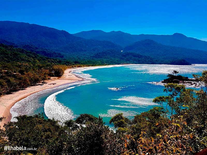 Natureza de Ilhabela - Praia de Castelhanos vista do Mirante do Coração