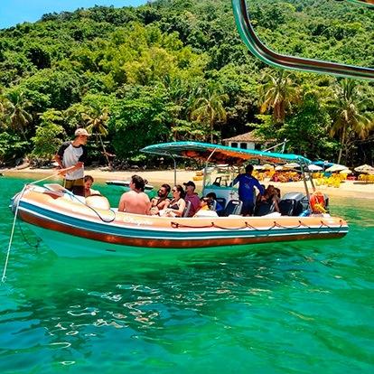 Up Adventure Turismo Ilhabela - Passeio de Barco - Praia da Fome