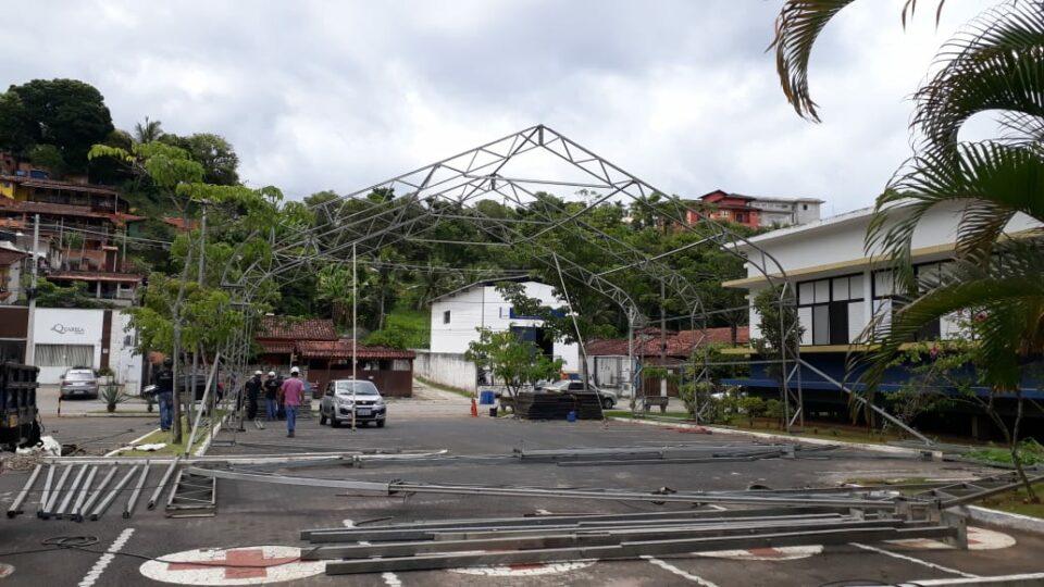 Ilhabela está construindo hospital de campanha para desafogar atendimento ao Covid-19 no Hospital Mário Covas