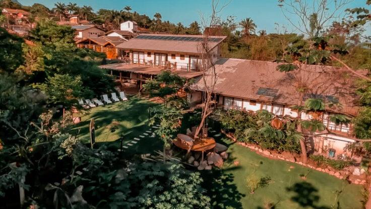 Vista aérea - Reserva Ilhabela - Hospedagem Sustentável em Ilhabela - Praia da Feiticeira