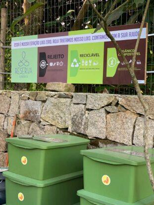 Estação Lixo Zero - Reserva Ilhabela - Hospedagem Sustentável em Ilhabela - Praia da Feiticeira