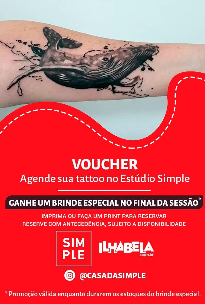 Voucher - Casa Simple - Brinde especial para quem fizer tatuagem no Estúdio Simple