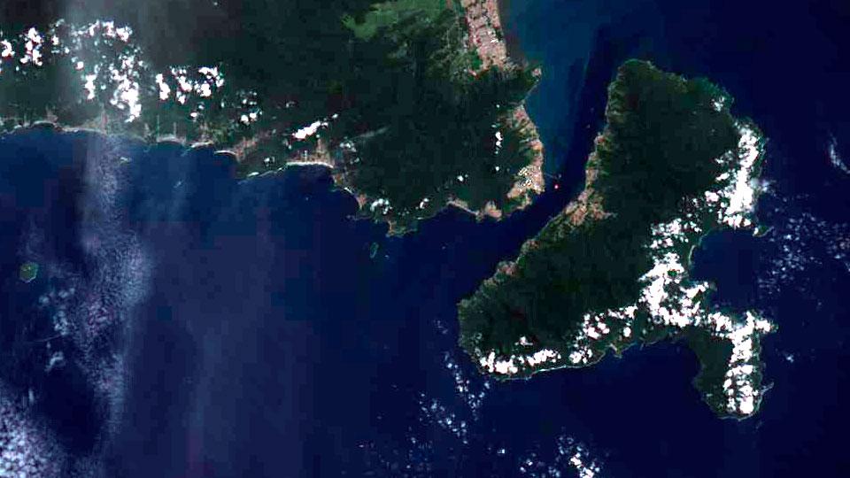 Imagem aérea de Ilhabela e região - Satélite Amazônia 1 - Inpe